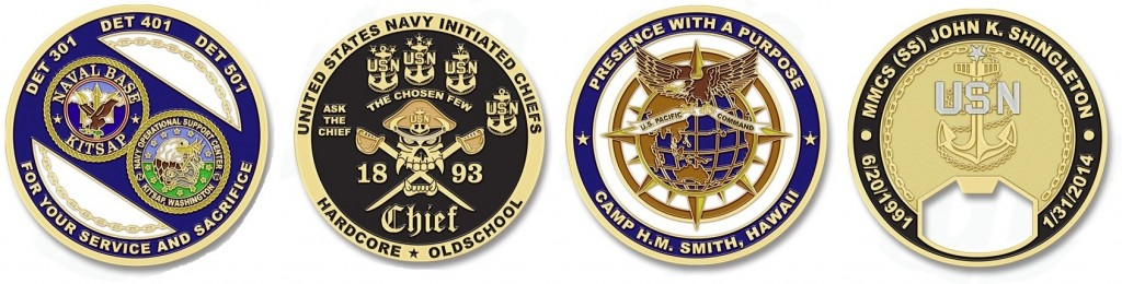 US Navy Military Unit Coins