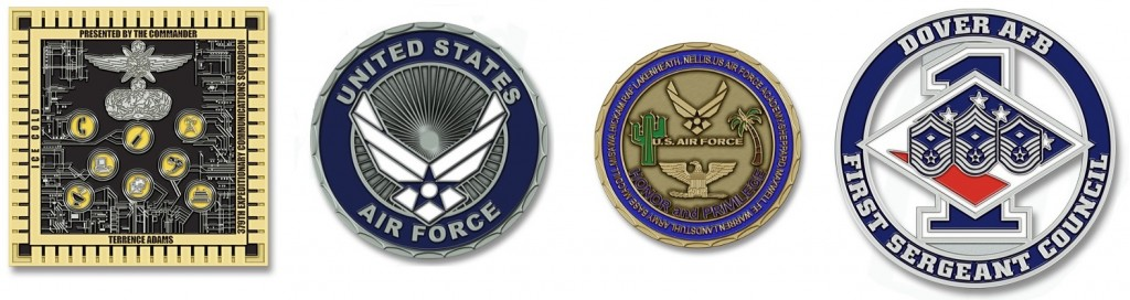USAF Examples of Custom Unit Coins